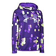 Under Armour Girls Fleece Printed Big Logo Hoodie & Sweatshirts Technical Tops