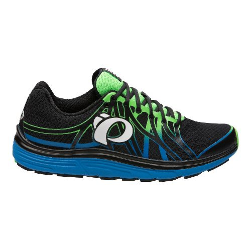 Mens Pearl Izumi EM Road N 3 Running Shoe - Black/Fountain Blue 10.5