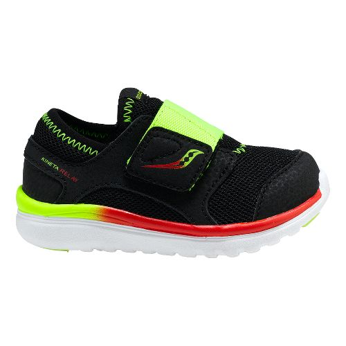 Kids Saucony Kineta Alternative Closure Running Shoe - Black/Citron 8C