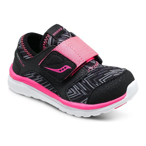 Kids Saucony Kineta Alternative Closure Running Shoe - Red/Grey 4C