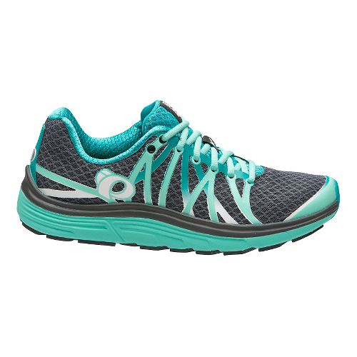 Womens Pearl Izumi EM Road N 3 Running Shoe - Shadow Grey/Aqua 7.5