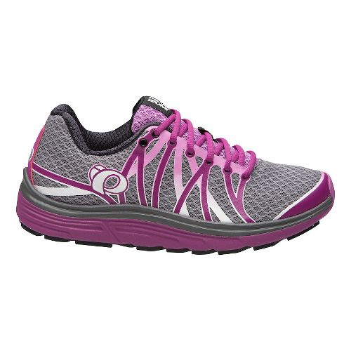 Womens Pearl Izumi EM Road N 3 Running Shoe - Pearl/Purple Wine 10