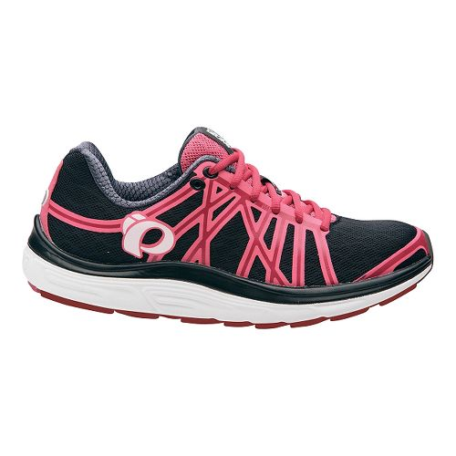 Womens Pearl Izumi EM Road M 3 V2 Running Shoe - Black/Honeysuckle 9