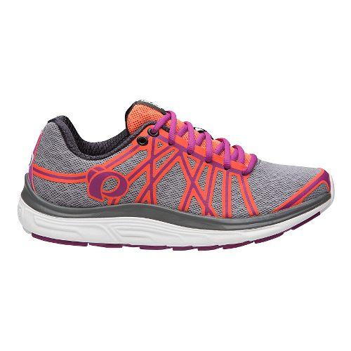 Womens Pearl Izumi EM Road M 3 V2 Running Shoe - Pearl/Clementine 9.5