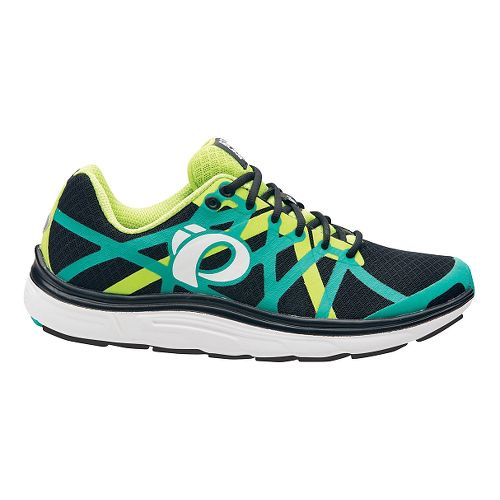 Mens Pearl Izumi EM Road H 3 V2 Running Shoe - Black/Dynasty Green 7.5