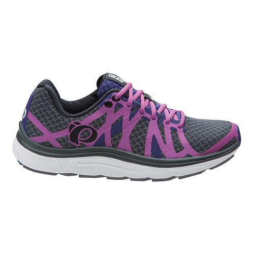 Womens Pearl Izumi EM Road H 3 V2 Running Shoe - Shadow Grey/Mauve 7.5