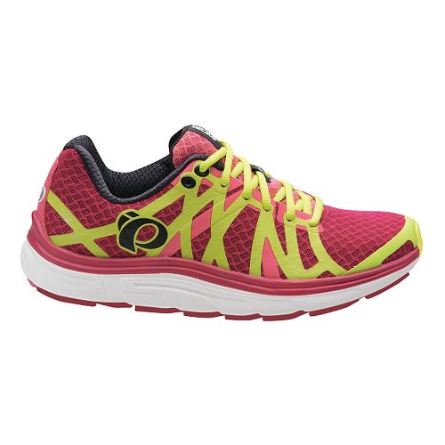 Womens Pearl Izumi EM Road H 3 V2 Running Shoe - Cerise/Honeysuckle 9.5