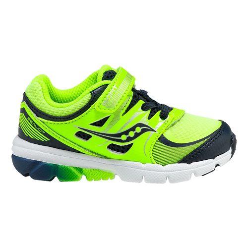 Kids Saucony Baby Zealot Running Shoe - Citron/Navy 11.5C