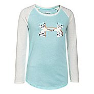 Kids Under Armour Holiday Big Logo Longsleeve Raglan Long Sleeve No Zip Technical Tops