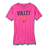 Kids Under Armour Volleyball Crew Short Sleeve Technical Tops