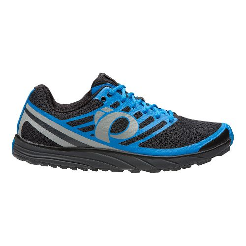 Mens Pearl Izumi EM Trail N 1 V2 Trail Running Shoe - Black/Fountain Blue 8 ...