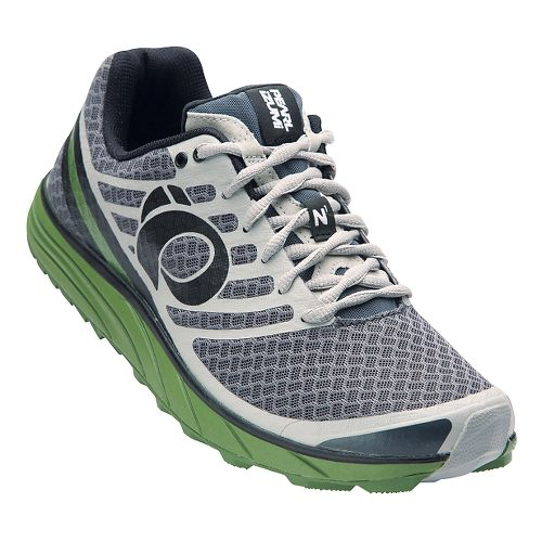 Mens Pearl Izumi EM Trail N 1 V2 Trail Running Shoe - Shadow Grey/Cactus 8 ...