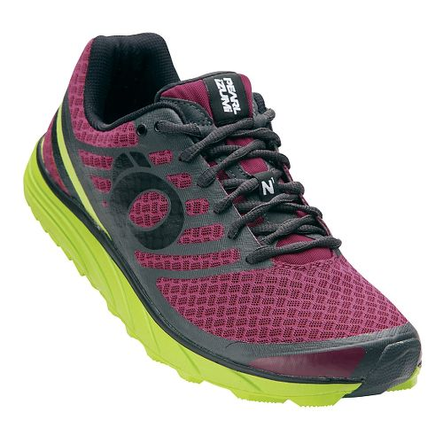 Mens Pearl Izumi EM Trail N 1 V2 Trail Running Shoe - Beet Red/Lime 13 ...