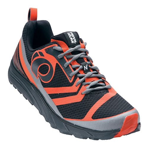 Mens Pearl Izumi EM Trail N 2 V2 Trail Running Shoe - Shadow Grey/Orange 8.5 ...