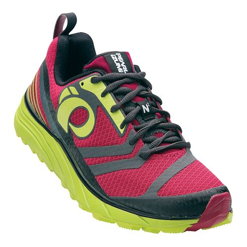 Womens Pearl Izumi EM Trail N 2 V2 Trail Running Shoe - Cerise/Lime Punch 9 ...