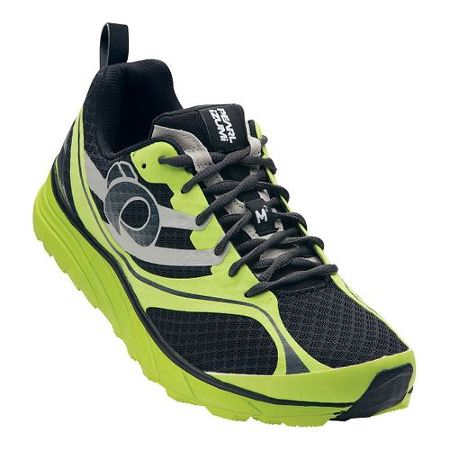 Mens Pearl Izumi EM Trail M 2 V2 Trail Running Shoe - Black/Lime Punch 12 ...