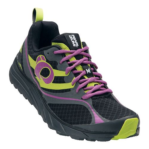 Womens Pearl Izumi EM Trail M 2 V2 Trail Running Shoe - Black/Meadow Mauve 6 ...