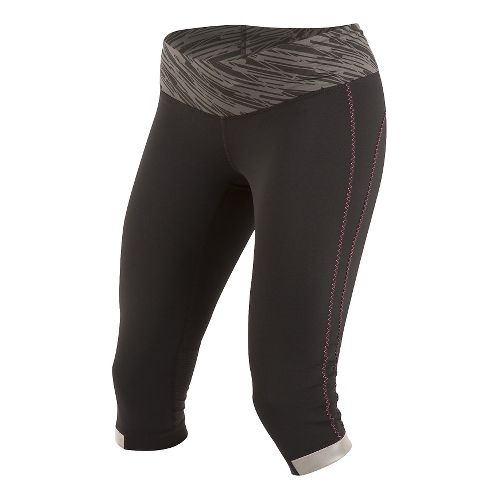Womens Pearl Izumi Fly 3/4 Capris Tights - Black/Shadow L