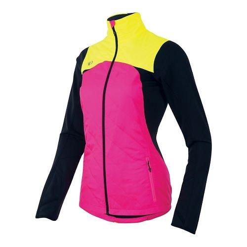 Womens Pearl Izumi Flash Insulator Running Jackets - Pink/Yellow XS