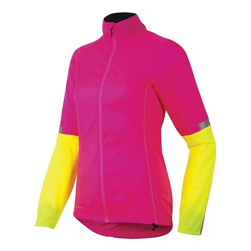 Womens Pearl Izumi Fly Running Jackets - Pink/Yellow L