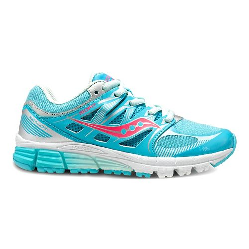 Kids Saucony Zealot Running Shoe - Turquoise/Silver 1.5Y