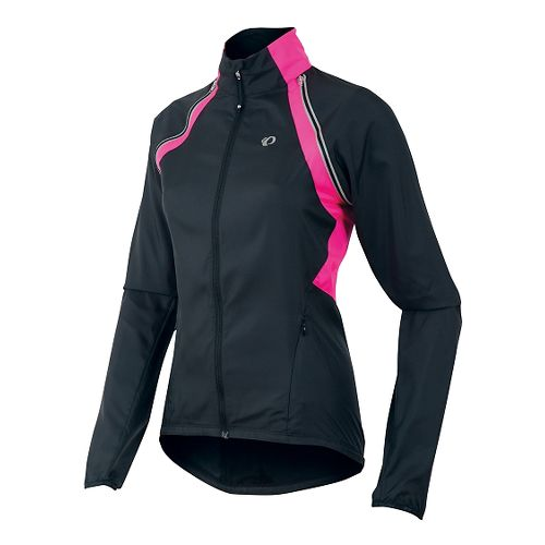 Womens Pearl Izumi Barrier Convertible Running Jackets - Black/Pink L