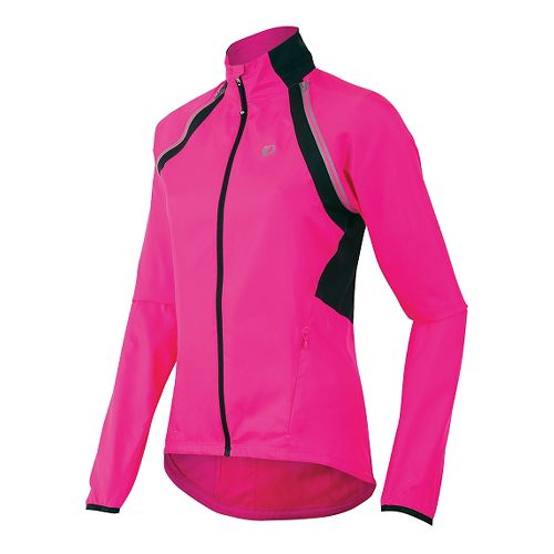 Womens Pearl Izumi Barrier Convertible Running Jackets - Screaming Pink XL