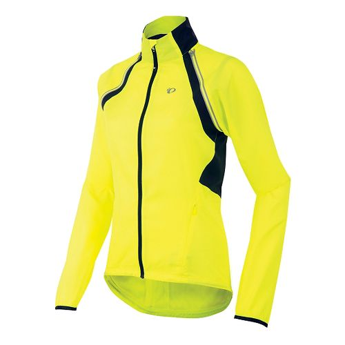 Womens Pearl Izumi Barrier Convertible Running Jackets - Screaming Yellow M