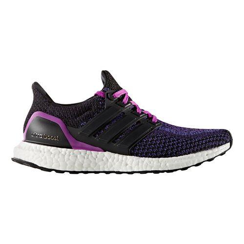 Womens adidas Ultra Boost Running Shoe - Black/Purple 10.5