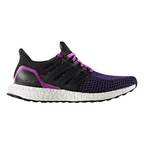 Womens adidas Ultra Boost Running Shoe - Black/Purple 7.5