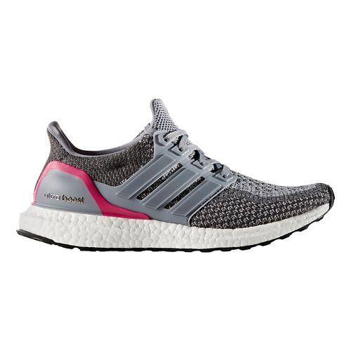 Womens adidas Ultra Boost Running Shoe - Grey/Pink 10
