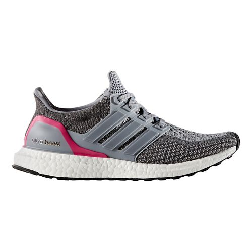 Womens adidas Ultra Boost Running Shoe - Grey/Pink 9.5
