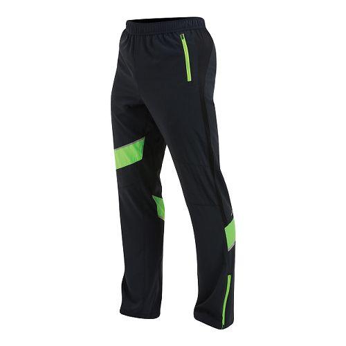 Mens Pearl Izumi Flash Run Full Length Pants - Black/Green L