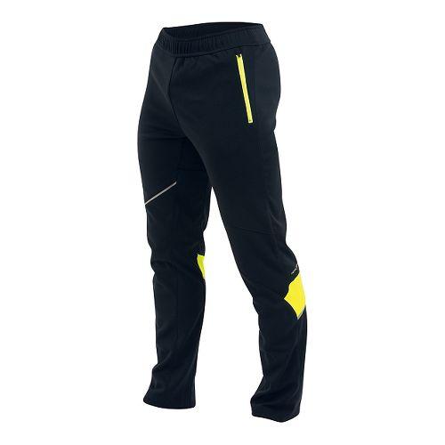 Mens Pearl Izumi Fly Run Full Length Pants - Black/Yellow L