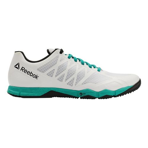 Mens Reebok CrossFit Speed TR Cross Training Shoe - White/Neon Pacific 8.5
