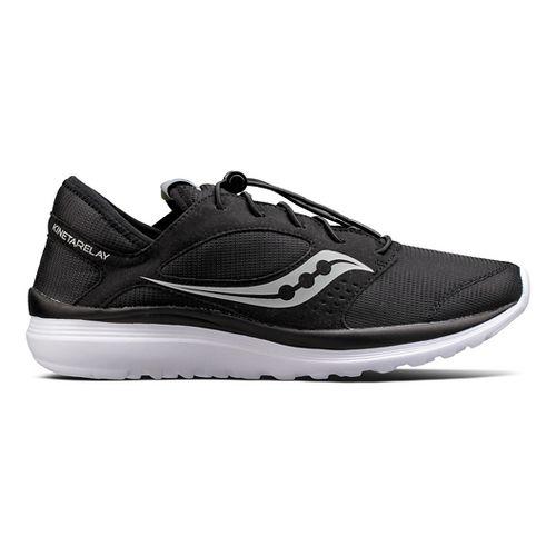 Mens Saucony Kineta Relay Casual Shoe - Black/White 10