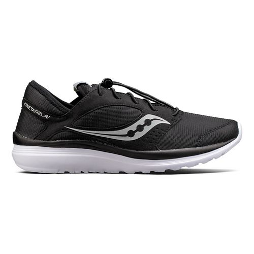 Mens Saucony Kineta Relay Casual Shoe - Black/White 10.5