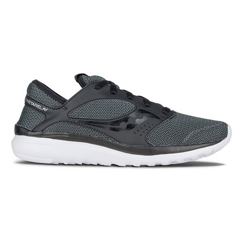 Mens Saucony Kineta Relay Casual Shoe - Black/Black 7