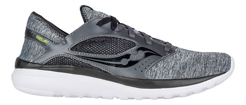 Mens Saucony Kineta Relay Casual Shoe - Heather/Black 7