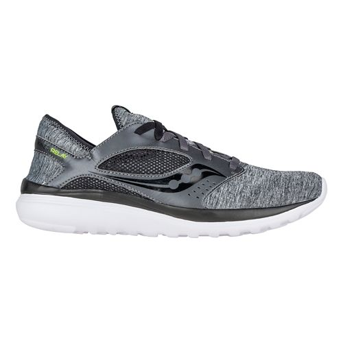 Mens Saucony Kineta Relay Casual Shoe - Heather/Black 12