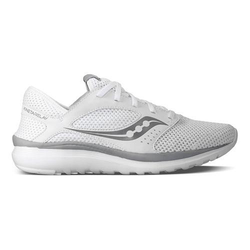 Mens Saucony Kineta Relay Casual Shoe - White/Grey 8.5