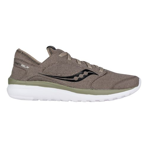 Mens Saucony Kineta Relay Casual Shoe - Brown/Canvas 9.5
