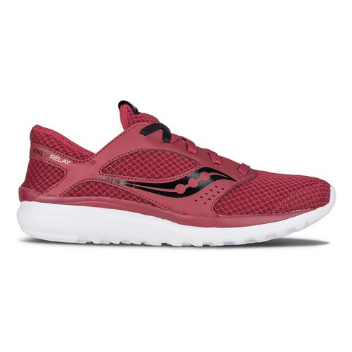 Mens Saucony Kineta Relay Casual Shoe - Crimson/Black 12