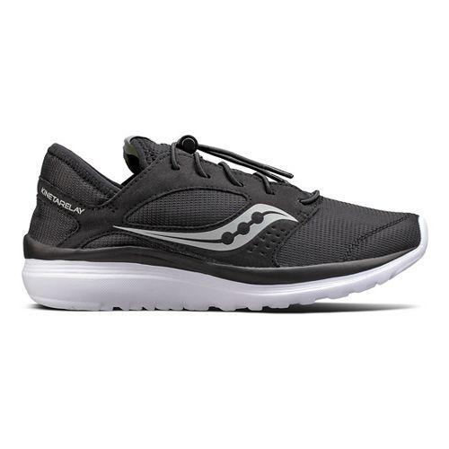 Womens Saucony Kineta Relay Casual Shoe - Black/White 10.5