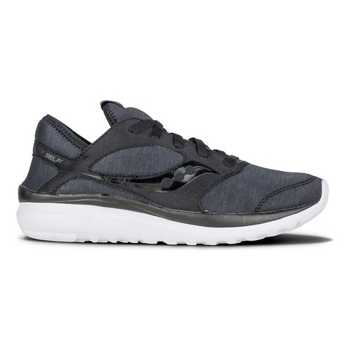 Womens Saucony Kineta Relay Casual Shoe - Black/Black 7.5