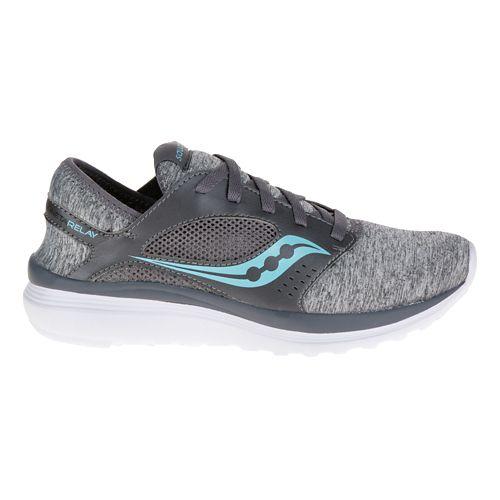 Womens Saucony Kineta Relay Casual Shoe - Heather/Blue 6.5