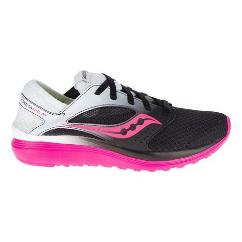 Womens Saucony Kineta Relay Casual Shoe - White/Pink 5