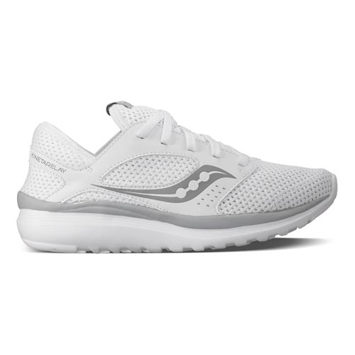 Womens Saucony Kineta Relay Casual Shoe - White/Grey 10