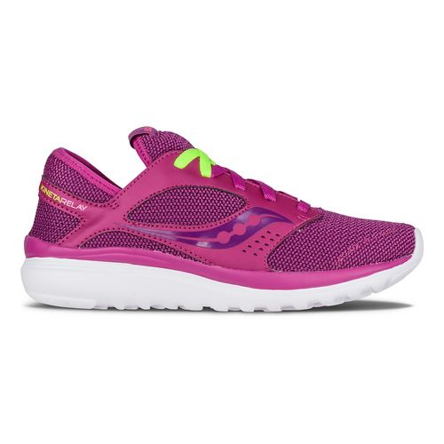 Womens Saucony Kineta Relay Casual Shoe - Fuchsia/Berry 7