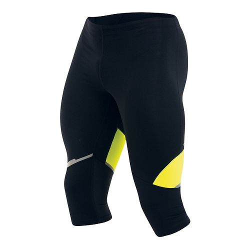 Mens Pearl Izumi Fly 3/4 Capri Tights - Black/Yellow M